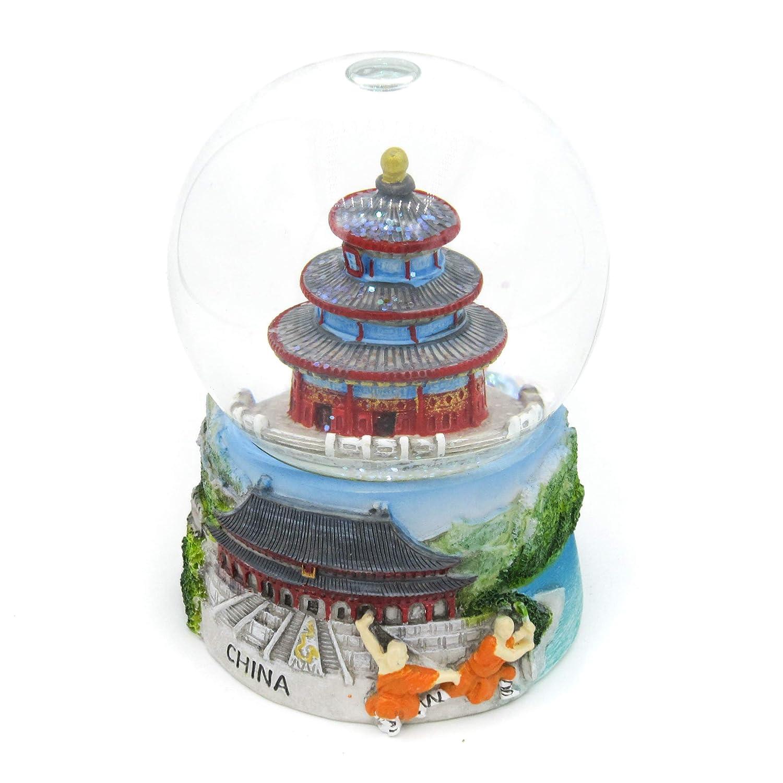 Tiantan Der Tempel des Himmels Shaolin Tempel Wanli Changcheng Chinesische Mauer x Zijin Cheng; Verbotene Stadt Zhengzhou China 3D Handgefertigte Wasserkugel Reisegeschenk und Souvenir