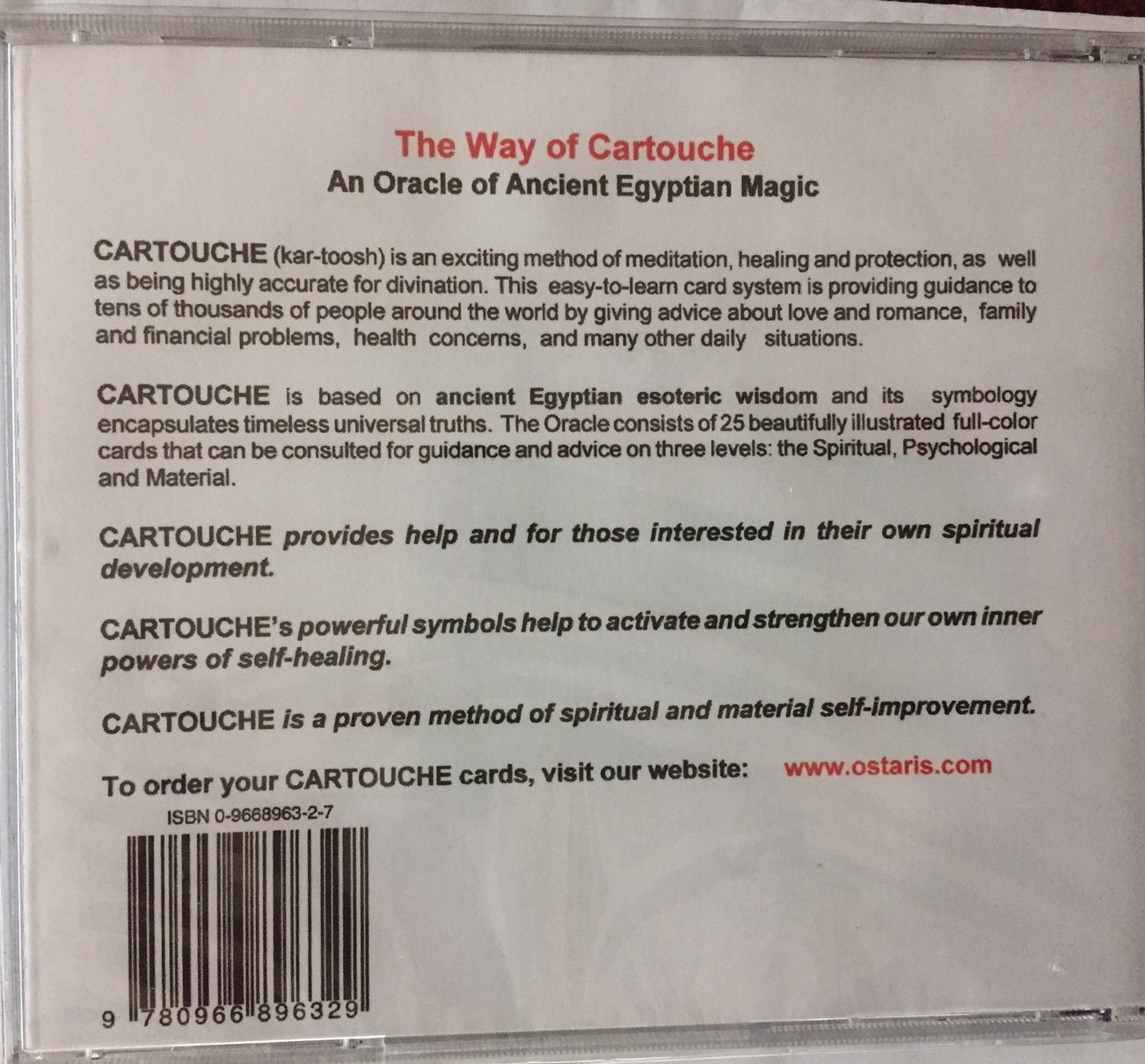 Way Of Cartouche An Oracle Of Ancient Egyptian Magic Cd Rom