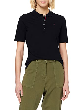 Tommy Hilfiger TH Essential Reg Polo SS Mujer: Amazon.es: Ropa y ...