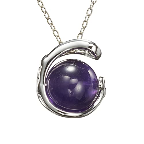 ON SALE Amethyst necklace handmade in sterling silver