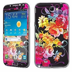 Samsung [Galaxy Note 2] Phone Skin - [SkinGuardz] Full Body Scratch Proof Vinyl Decal Sticker with [WallPaper] - [Rainbow Rose] for Samsung Galaxy [Note 2]