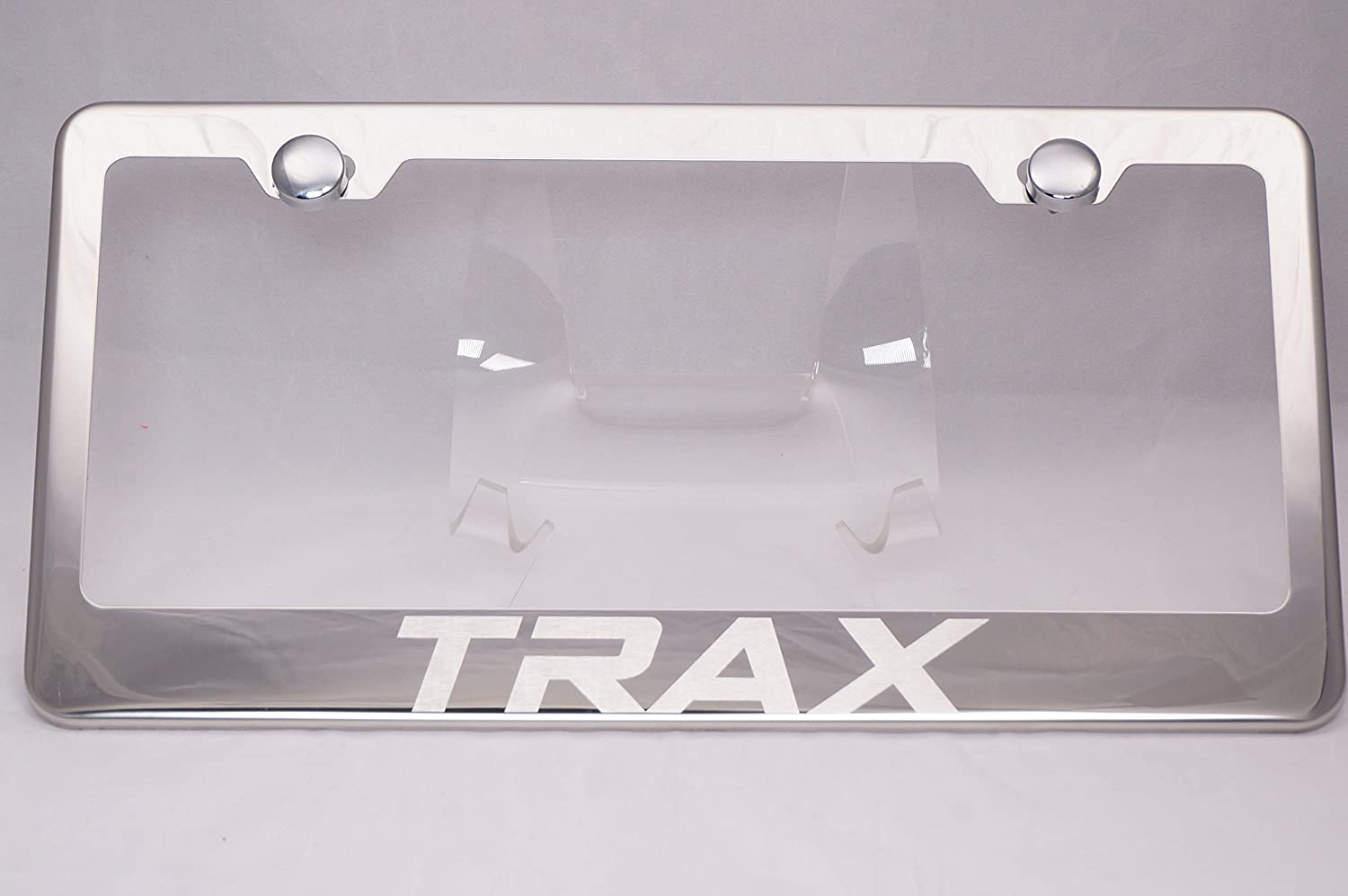 Chevrolet Chrome Logo On Polished Stainless Steel License Plate