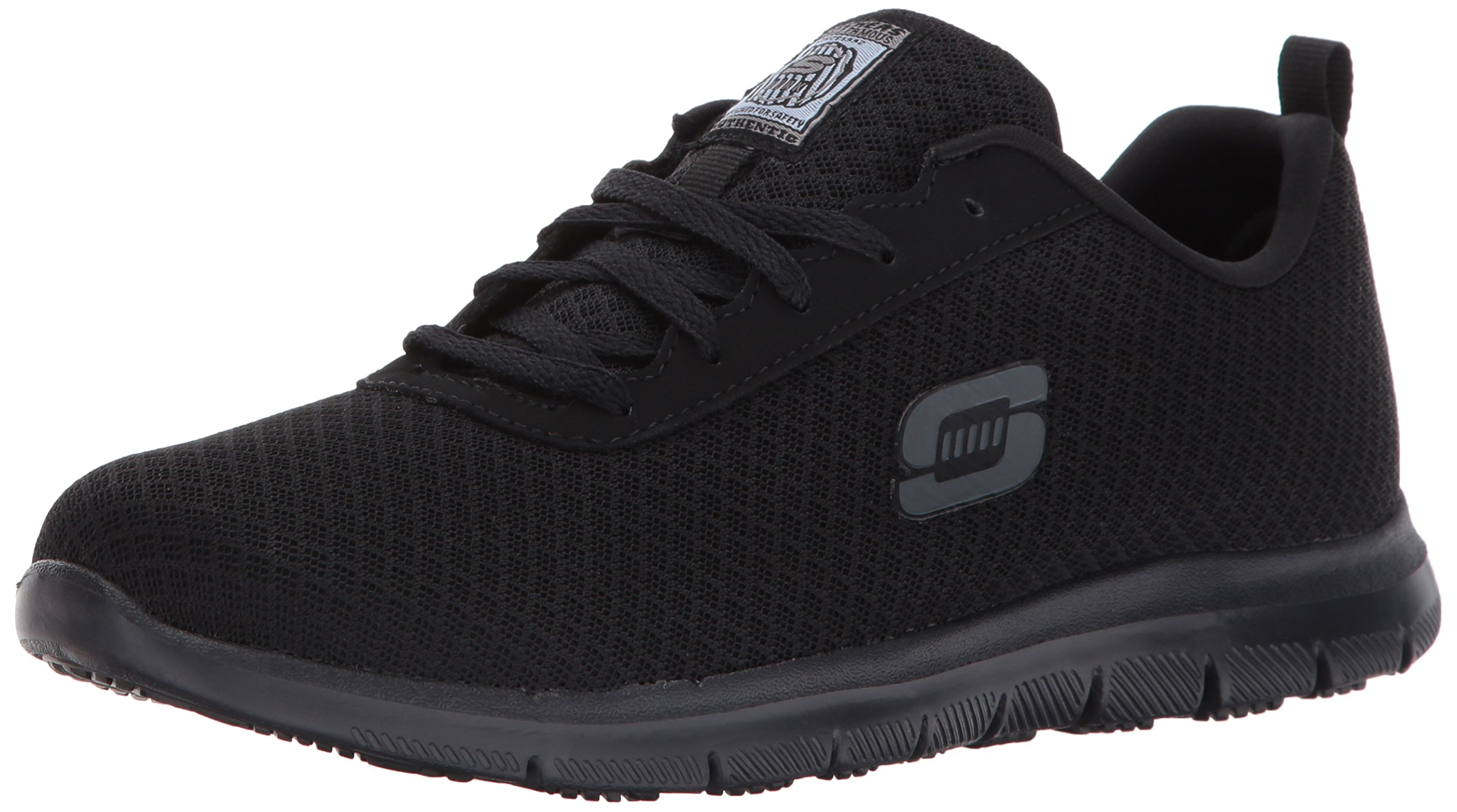 Skechers Women's Ghenter Bronaugh Food Service Shoe, Black, 9 Wide US