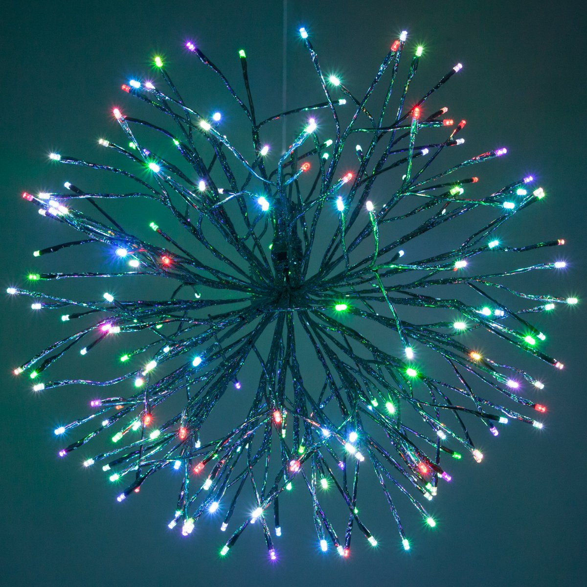 Christmas Light Balls.Cheap Silver Led Starburst 5mm Multicolor Ball Of Lights Christmas Light Balls 24 Silver Branches Multicolor Twinkle Lights Reviews Video