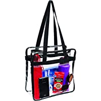 Clear Tote Stadium Approved with Handles And Zipper - 12 inch x 12 inch x 6 inch