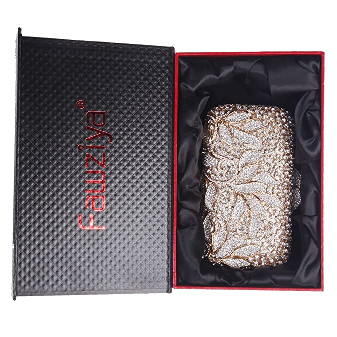 Amazon.com: fawziya Rhinestone floral embrague bolsas para ...