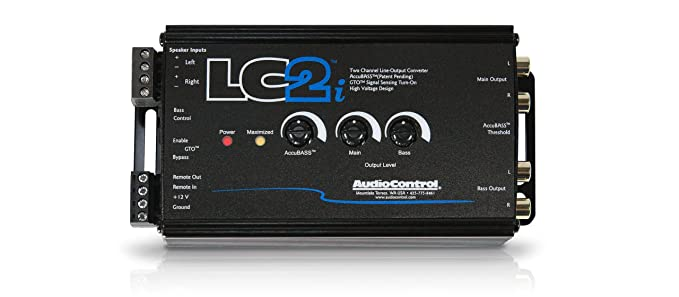 AudioControl LC2i 2 Channel Line Out Converter Wwith AccuB and Subwoofer on