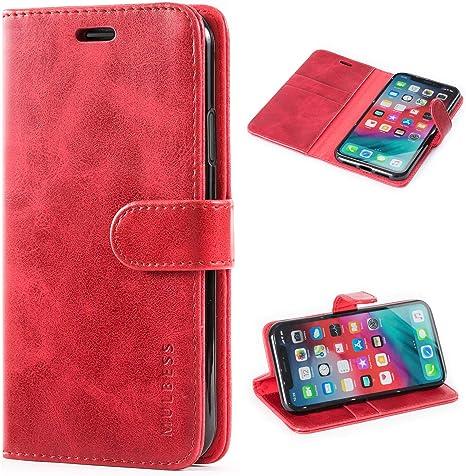 Rosso custodia in pelle per iPhone XR cover Prodotti Handmade