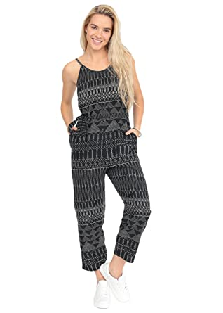 85e21e9d623e likemary Relaxed Strappy Printed Romper Jumpsuit XL  Amazon.co.uk  Clothing
