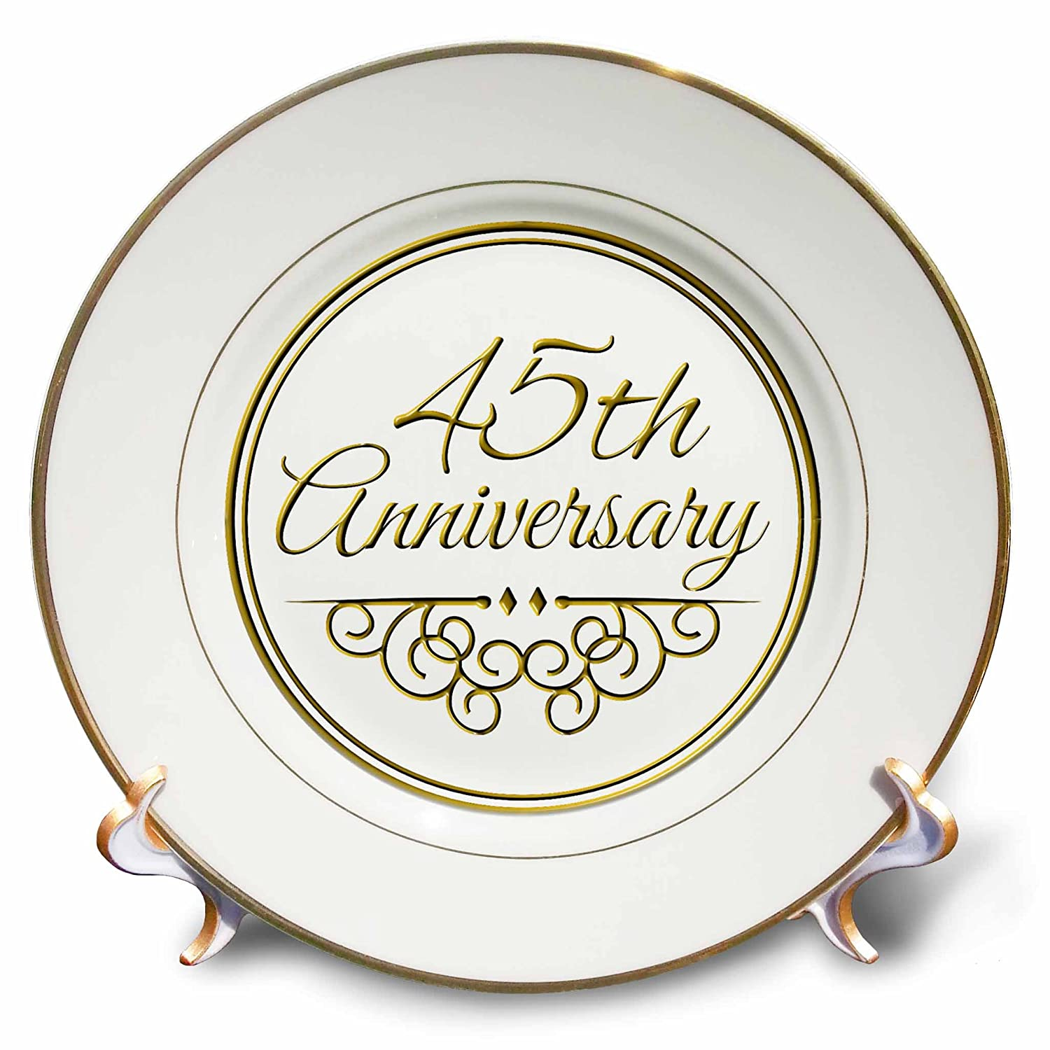 Amazon 3drose Cp1544871 45th Anniversary Gift Gold Text For