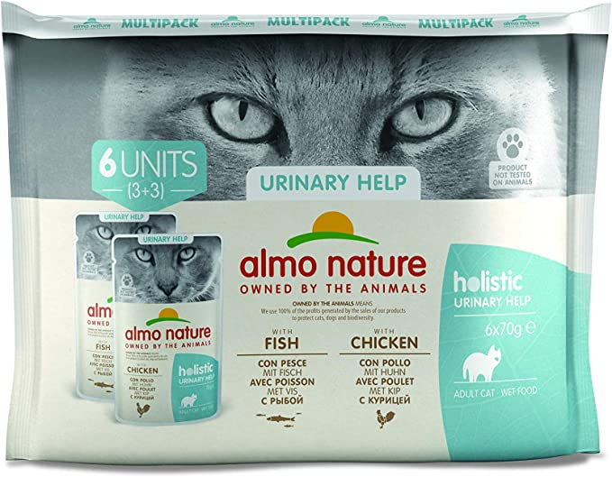 Almo Nature - Pack de Soporte urinario para Gatos (6 x 70 g): Amazon.es: Productos para mascotas