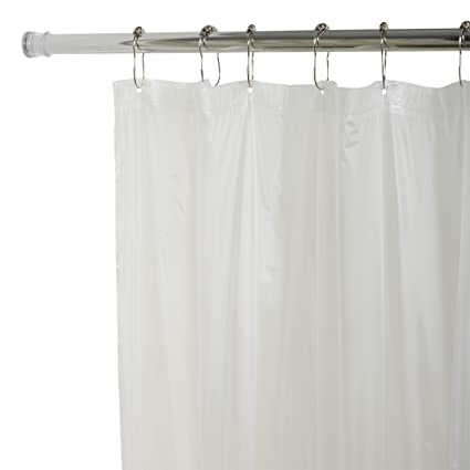 Zenna Home H27W Lightweight PVC Vinyl Shower Curtain Liner 70 In X 72