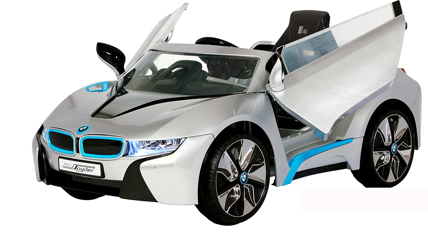 Rollplay 6 Volt Bmw I8 Ride On Toy Battery Powered Kid S Ride On Car Silver