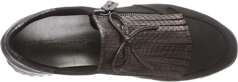 Tamaris 24701-21, Sneakers Basses Femme Noir Blk Pewter Str 11