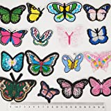 Libiline Random 16pcs Embroidered Butterfly Patch