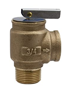 "Apollo Valve 10-400 Series Bronze Safety Relief Valve, ASME Hot Water, 30 psi Set Pressure, 3/4"" NPT Male x Female - 1040705"