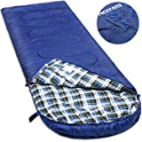 NORSENS Cold Weather Sleeping Bag of Temperature Range 30-59°F for Camping. Large Outdoor Sleeping Bag with Compression Sack Great for Adults. 90.5 x 32.6 inch, Dark Blue