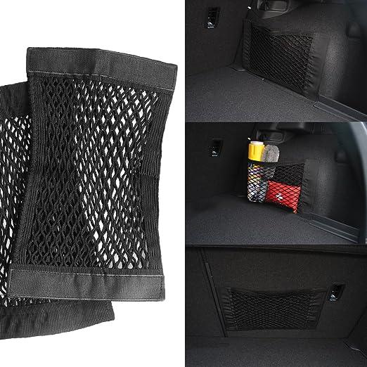 VORCOOL 2pcs Kofferraum Gep/äcknetz Speicher Net elastischer Schnur Net Sitz hinten Net f/ür Kofferraum