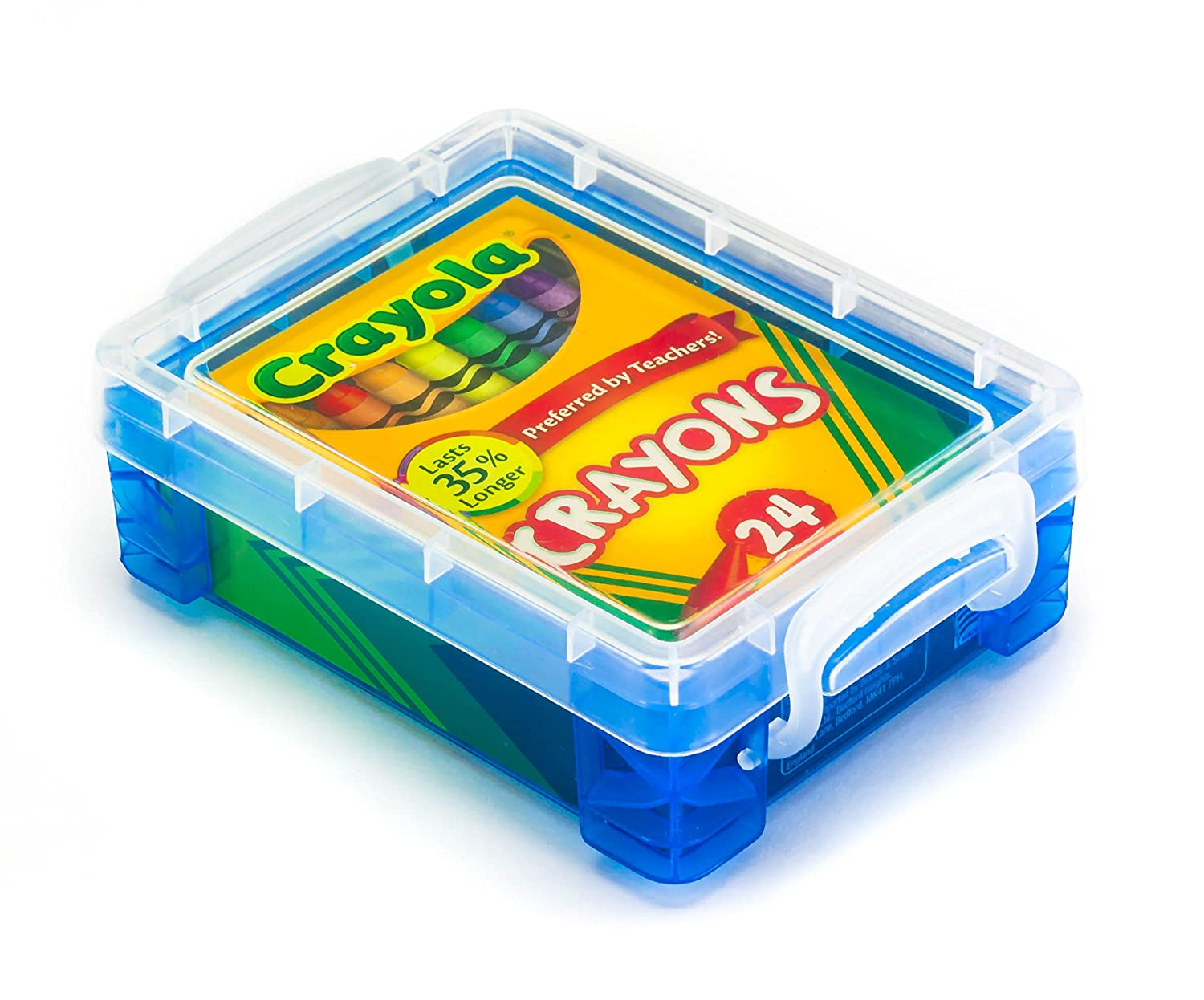 Crayola Crayons 24 Count with Clear Super Stacker Plastic Crayon Box (Bundle) HaleyMAE