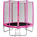 SixBros. Sixjump Trampoline de jardin - Filet de sécurité - Échelle - Housse de protectio