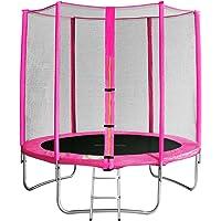 SixBros........ Sixjump Trampoline de Jardin - Filet de sécurité - Échelle - Housse de protectio