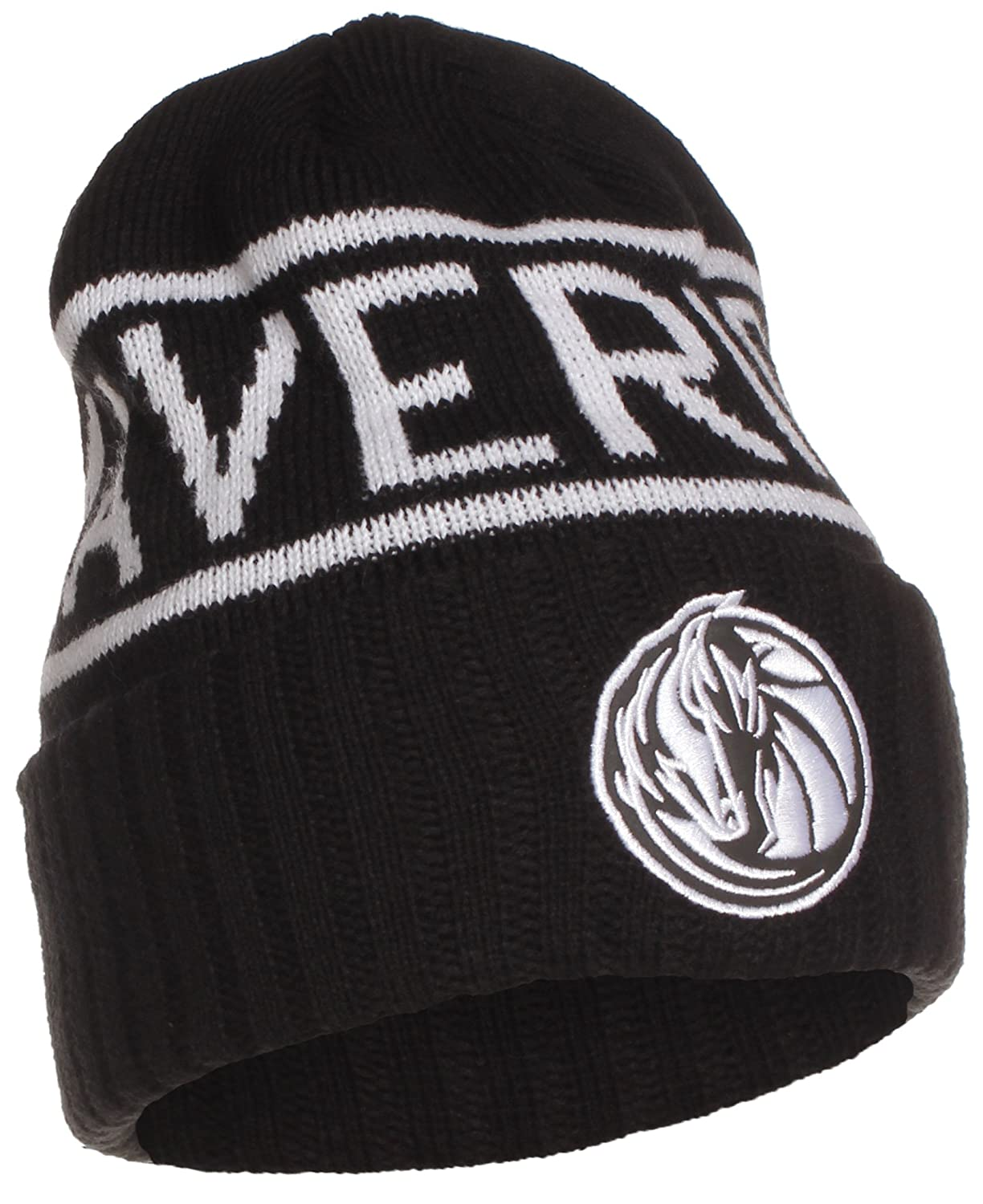 c451aede79a Mitchell ness nba licensed winter beanie cuffed knit skully hat cap black  dallas mavericks sports outdoors