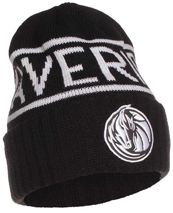 81e25acef930c Amazon.com   Mitchell   Ness NBA Licensed Winter Beanie Cuffed Knit Skully  Hat Cap - Black  Dallas Mavericks   Sports   Outdoors