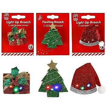 Amazonde 6 X Blinkender Weihnachtsclip Zum Anstecken