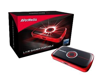 AVerMedia Live Gamer Portable - Capturadora portátil de juegos (HDMI, grabación en tarjetas SD) color negro