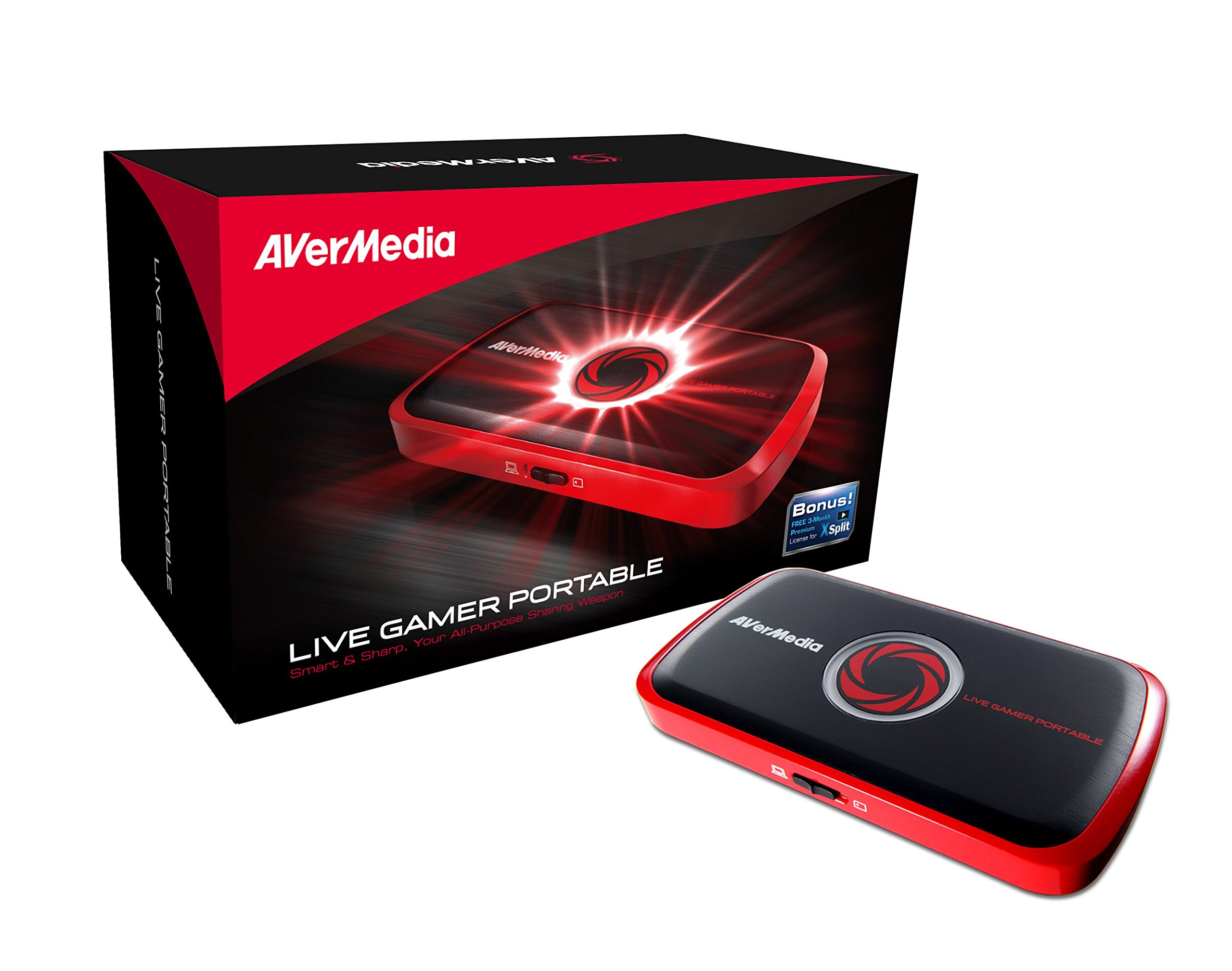 AVerMedia Live Gamer Portable, Full HD 1080p Recording Without PC Directly to SD Card, Ultra Low Latency, H.264 Hardware Encoding, USB Video Capture, High Definition Game Capture, Recorder, Streaming (C875) by AVerMedia