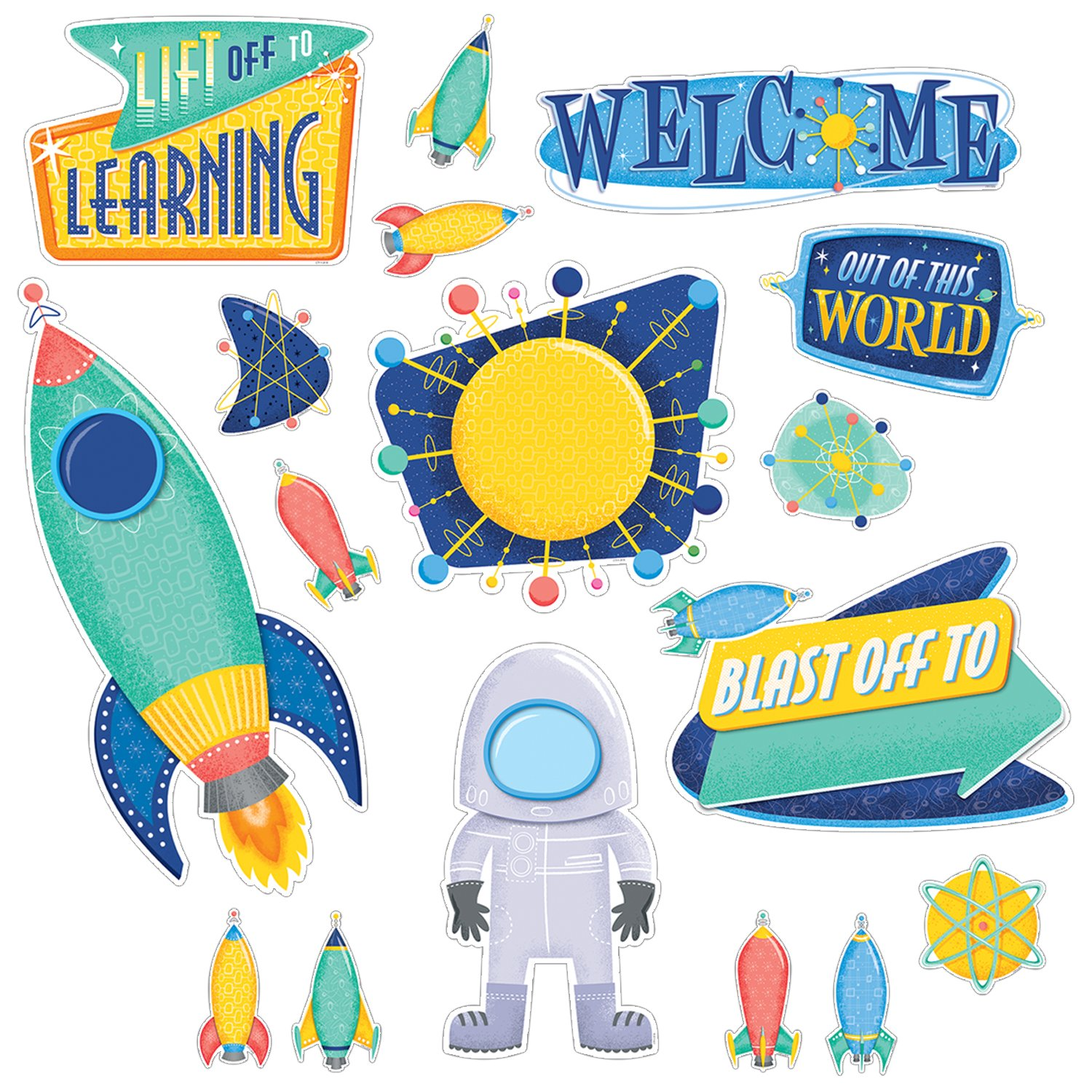 Creative Teaching Press Mid-Century Mod Lift Off to Learning Bulletin Board Set (8421)