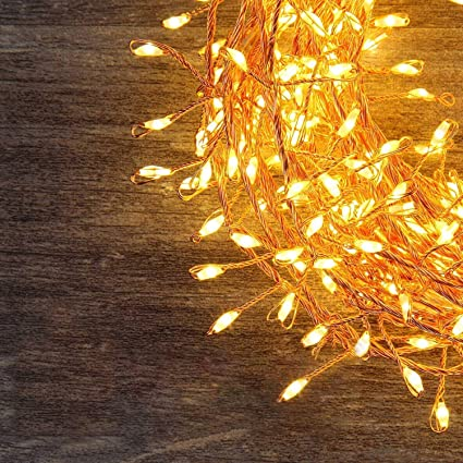 best loved 96f7d f4d30 LED String Fairy Lights,Greenclick 200 LEDS Battery Powered Fairy Lights  Warm White with Remote Control for Festival Christmas Wedding Holiday and  ...