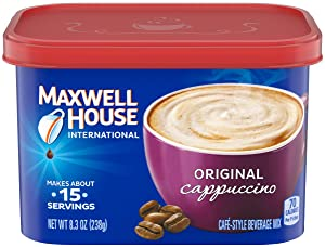 Maxwell House International Café, Original Cappuccino, 8.3 oz Tub (16 pack)