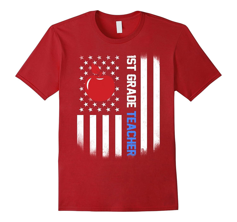 1st grade Teacher Shirt US Flag-FL