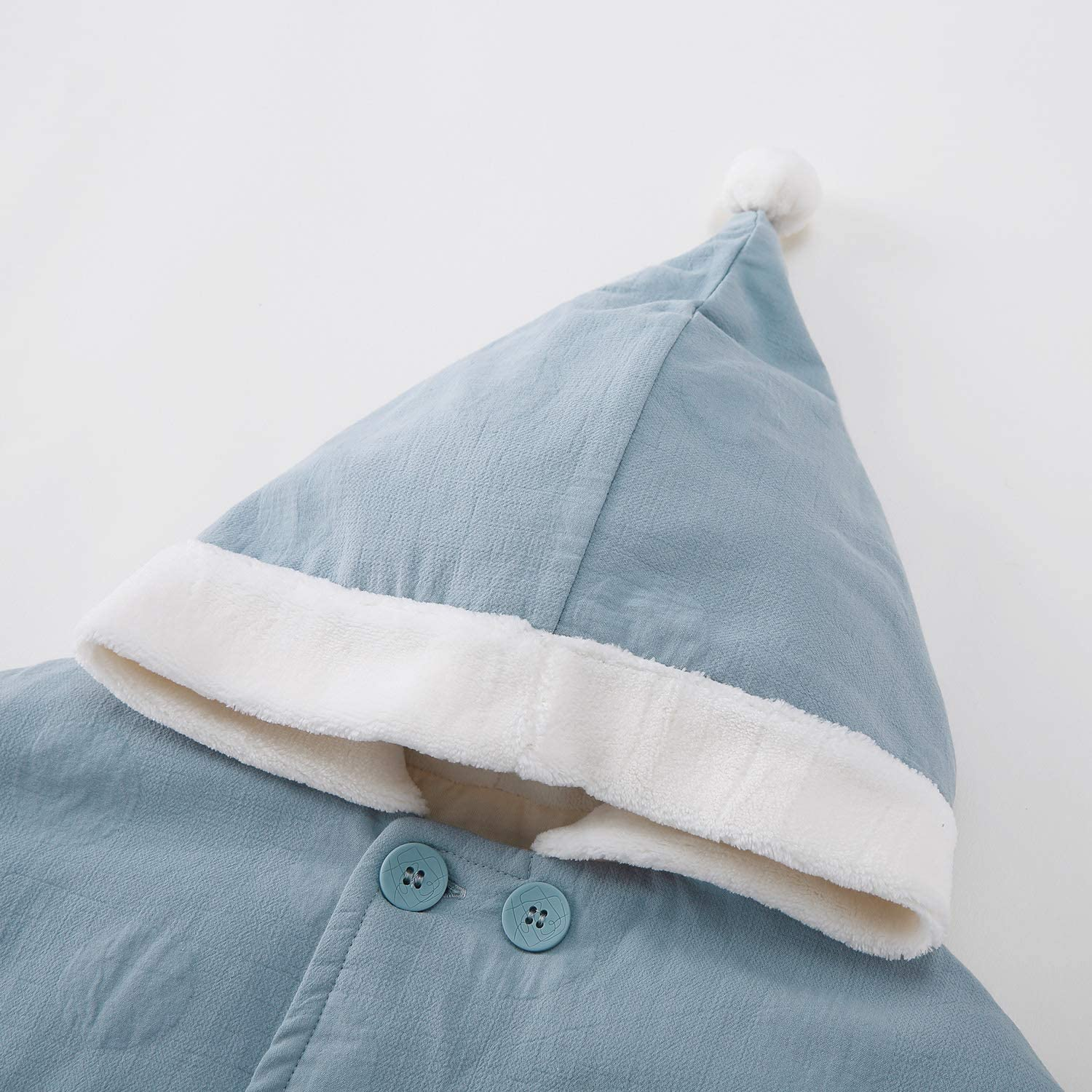 pureborn Baby Girls Boys Hooded Cape Cloak Carseat Poncho Coat Toddler Snowsuit Winter Outfit 0-3 Years