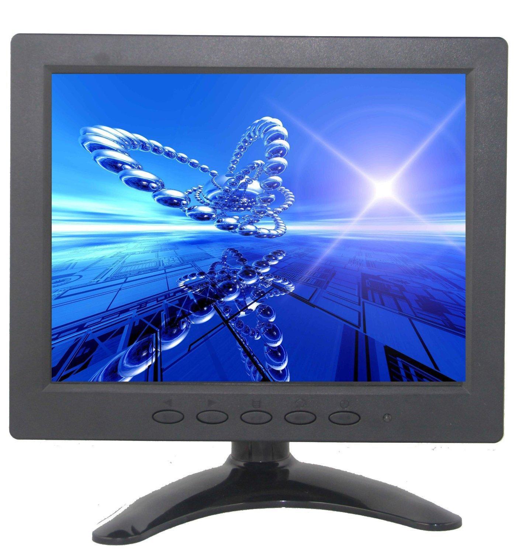 BW 8インチTFT LCDカラーカーモニターHD 1024 * 768 PCモニターCCTVモニター(HDMI/VGA/AV/BNC/コンポジット入力、PCセキュリティカメラ用) B01DD9FSVK
