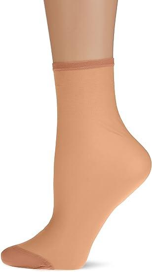 Dim Sublim Tobilleros 15D, Calcetines para Mujer, Beige (Beige Doré 500),