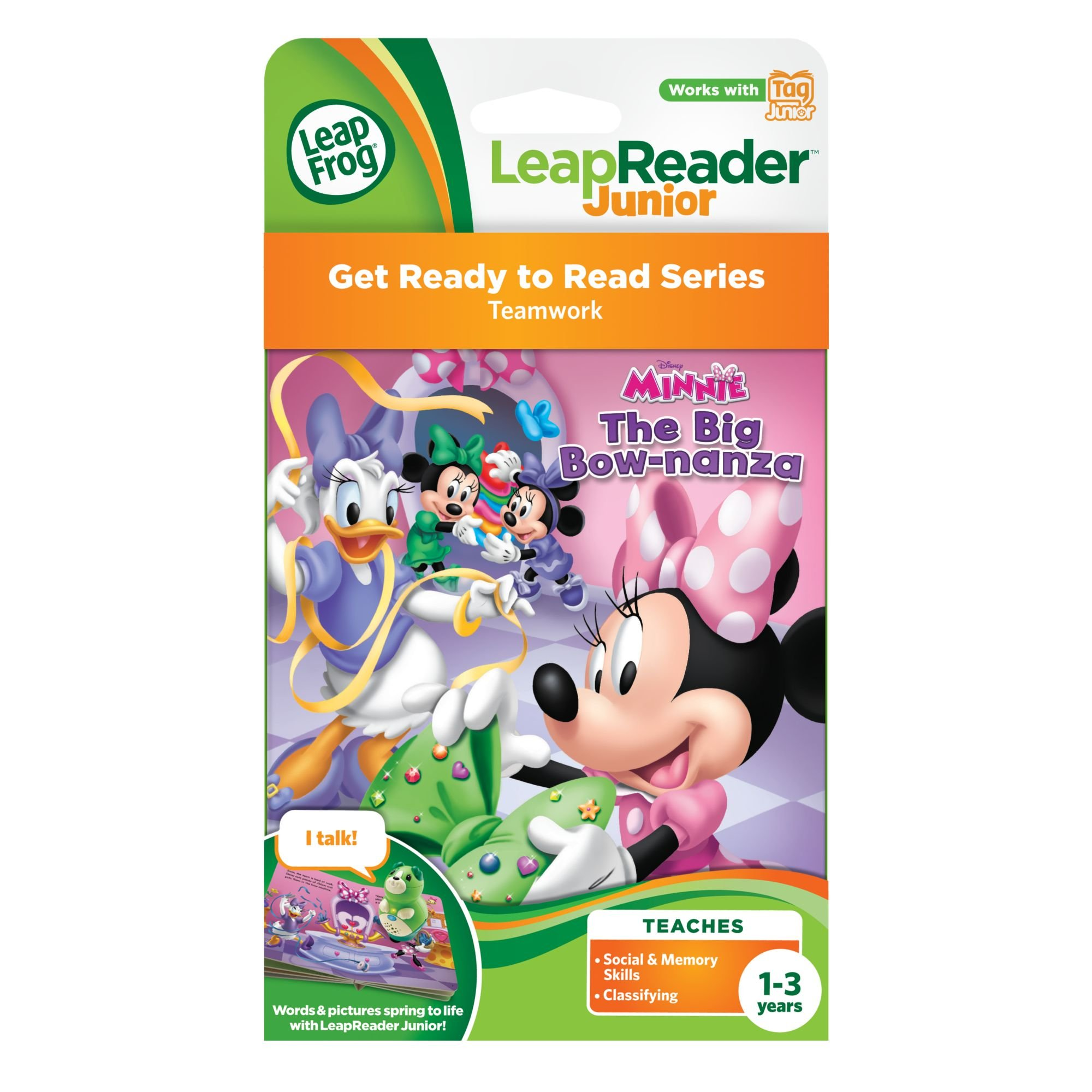 LeapFrog LeapReader Junior Book Disney Minnie (Works with Tag Junior) by LeapFrog (Image #3)