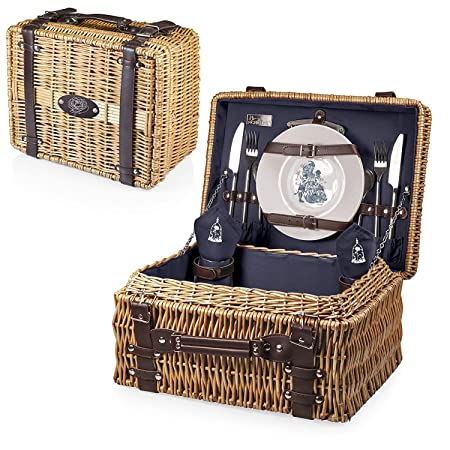 Disney Princess Beauty and The Beast Champion Picnic Basket with Deluxe Service for Two