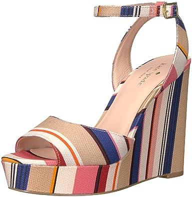 d637754cb7b3 Kate Spade New York Women s Dellie Wedge Sandal Multi Color 7.5 ...