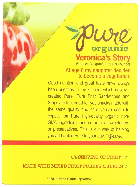 amazon com pure organic strawberry banana layered fruit bar