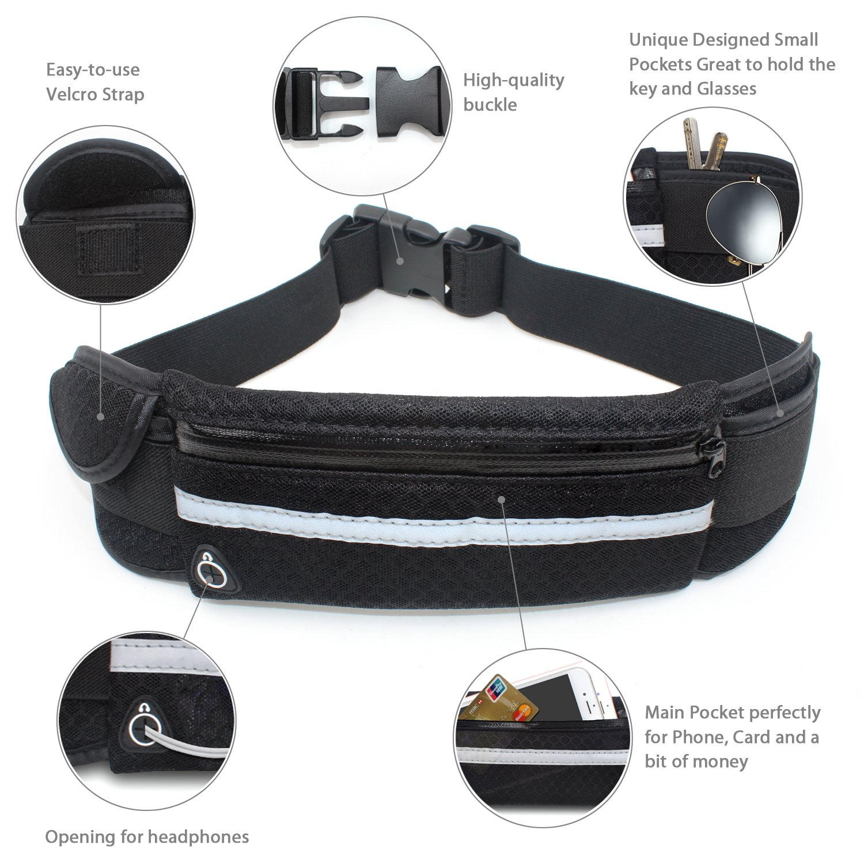 Brilliant Running Sport Bum Bag Fanny Pack Travel Waist Money Belt Zip Hiking Phone Pouch Wallet Pleasant In After-Taste Mother & Kids
