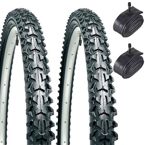 "CST Eiger 26"" x 1.95 Mountain Bike Tyres with Schrader Tubes (Pair)"
