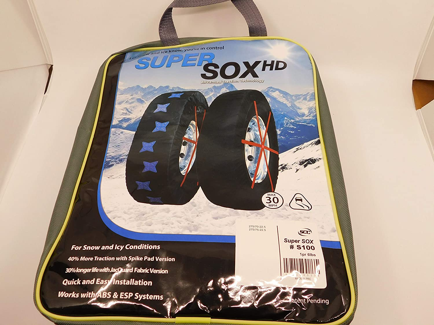 275//80-22 Peerless S200 Supersox with Jacquard Fabric Heavy Duty Commercial Truck Tire Socks for Winter Traction 275//75-22.5 275//70-22.5 295//75-22.5