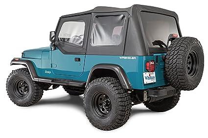 Jeep Yj Soft Top >> Whitco 35111135 Black Diamond 88 95 Yj Wrangler Soft Top With Door Skins