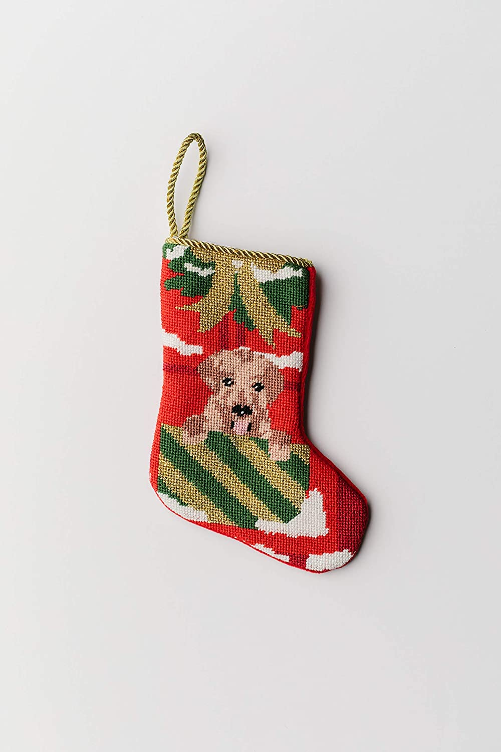 Amazon Com Christmas Puppy Bauble Stocking For Mom Wife