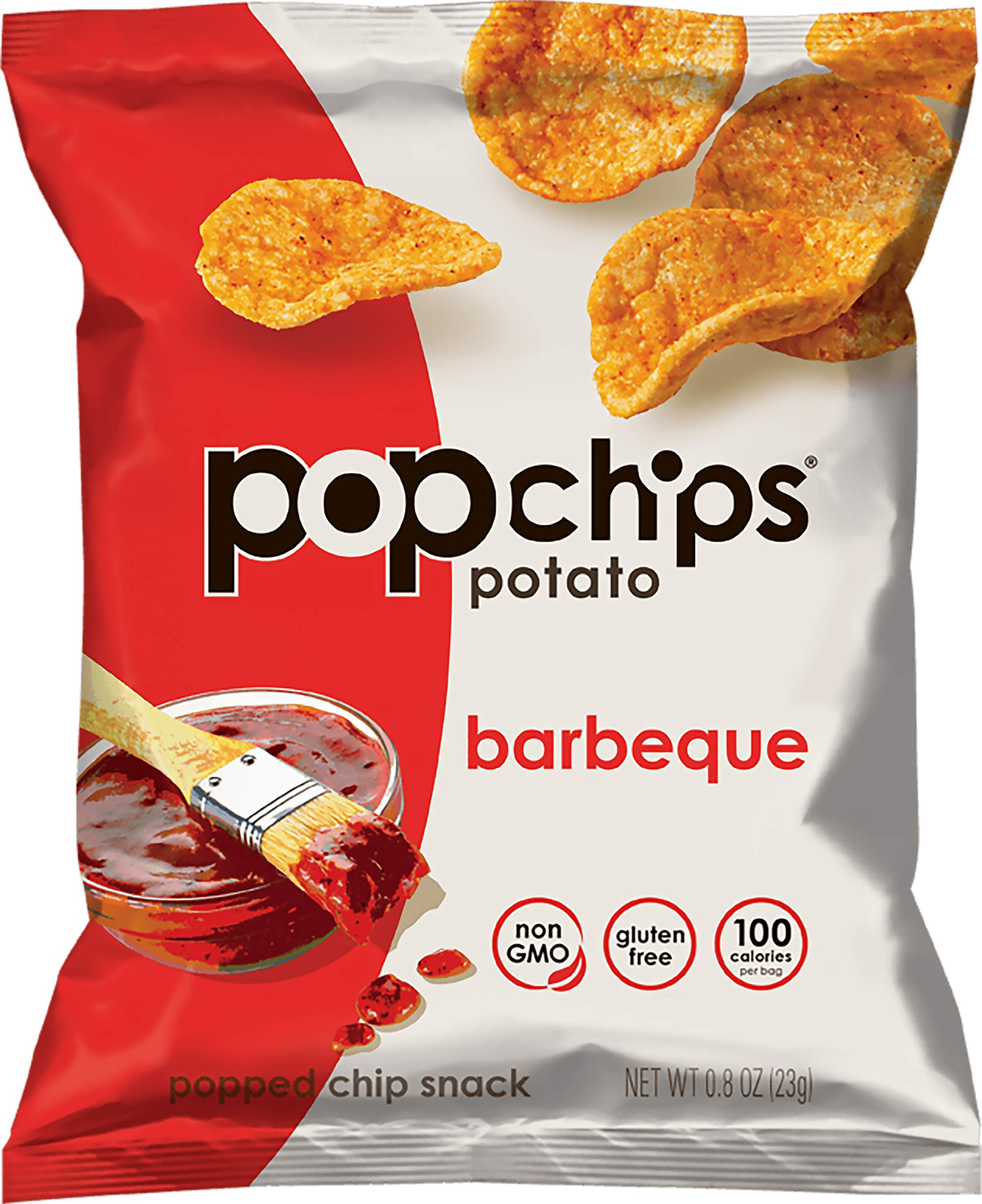 Popchips Potato Chips, BBQ, 0.8 Ounce (Pack of 24) by popchips