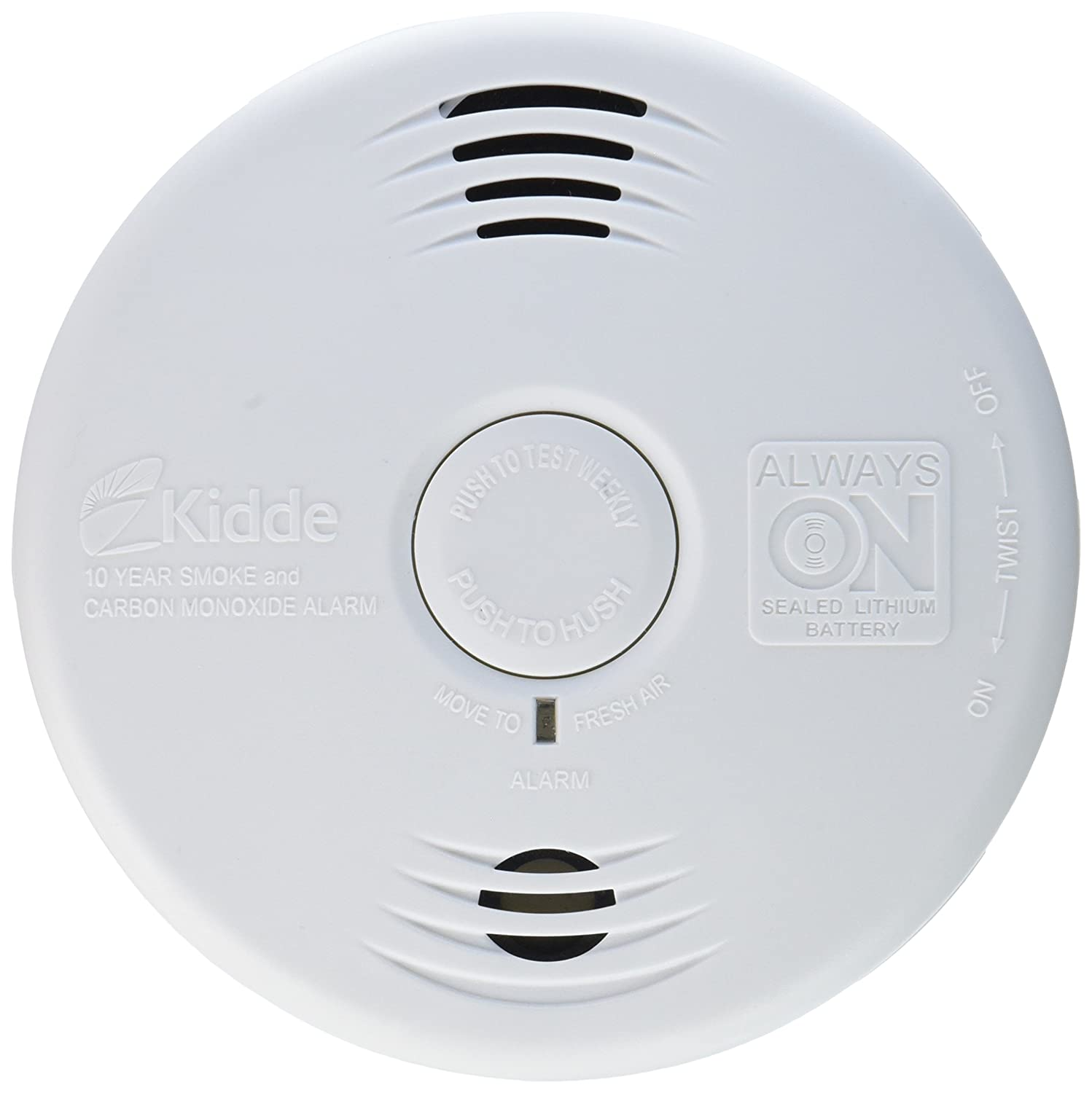 Worry-Free Combination Smoke & Carbon Monoxide Alarm with Lithium ...