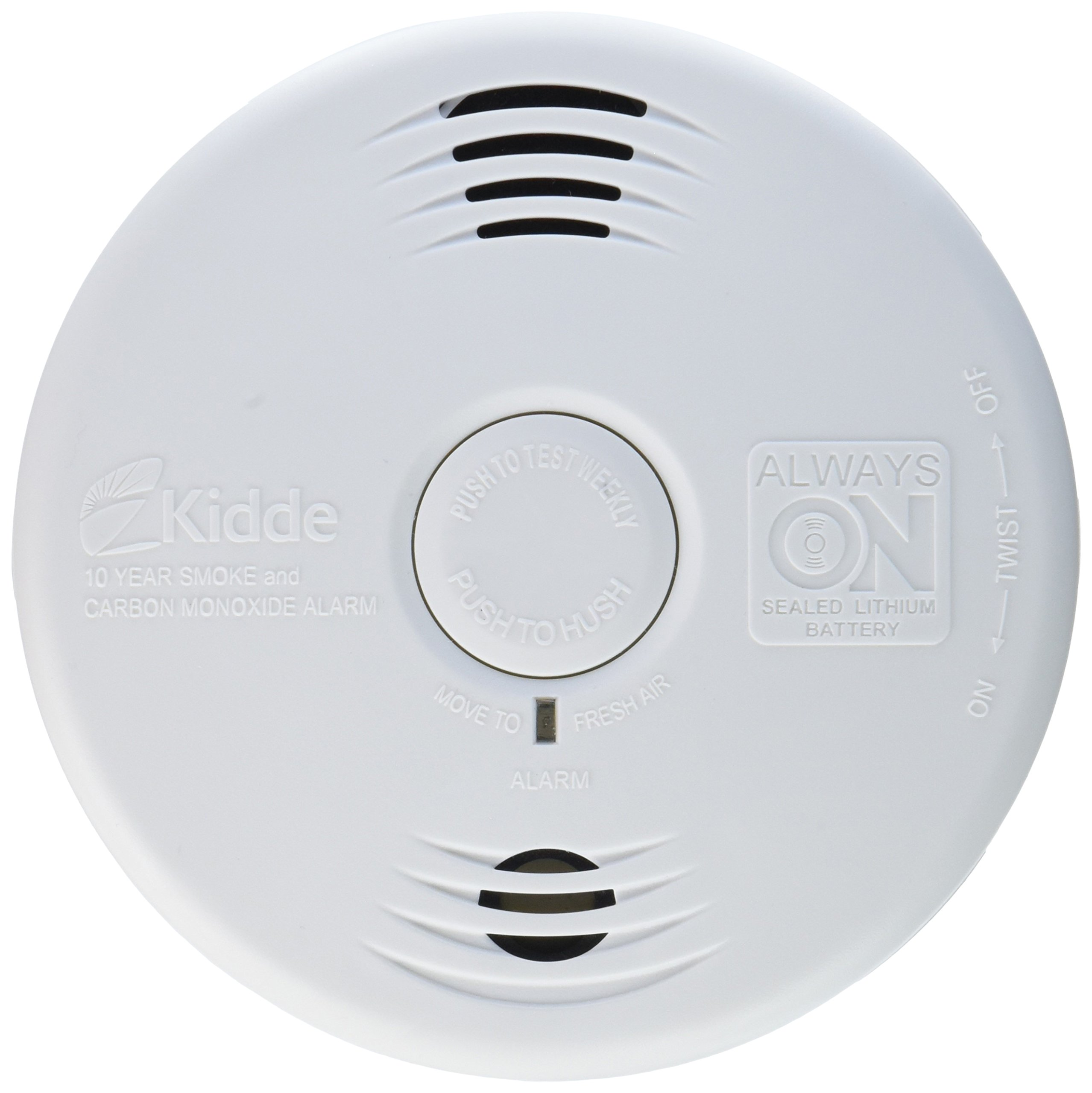 Worry-Free Combination Smoke & Carbon Monoxide Alarm with Lithium Battery P3010CU by Kidde