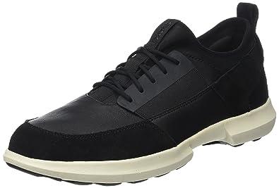 Geox U Traccia A, Sneakers Basses Homme, Noir (Black), 43 EU